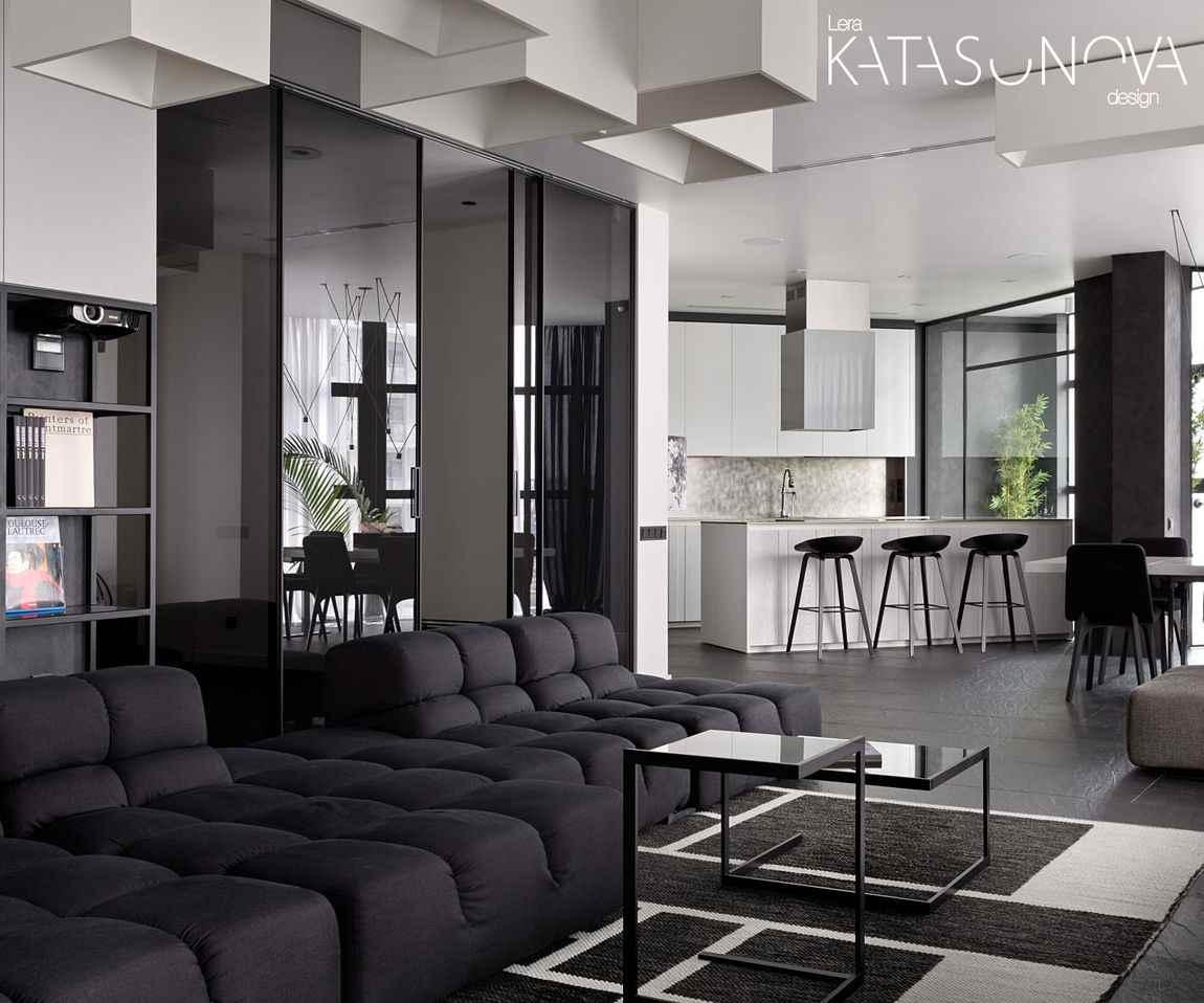 Чёрно-белая квартира